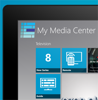 Windows 8 My Media Center Home - Activity