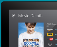 Windows 8 My Media Center Movie Details