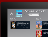 Windows 8 My Media Center Movies Tonight