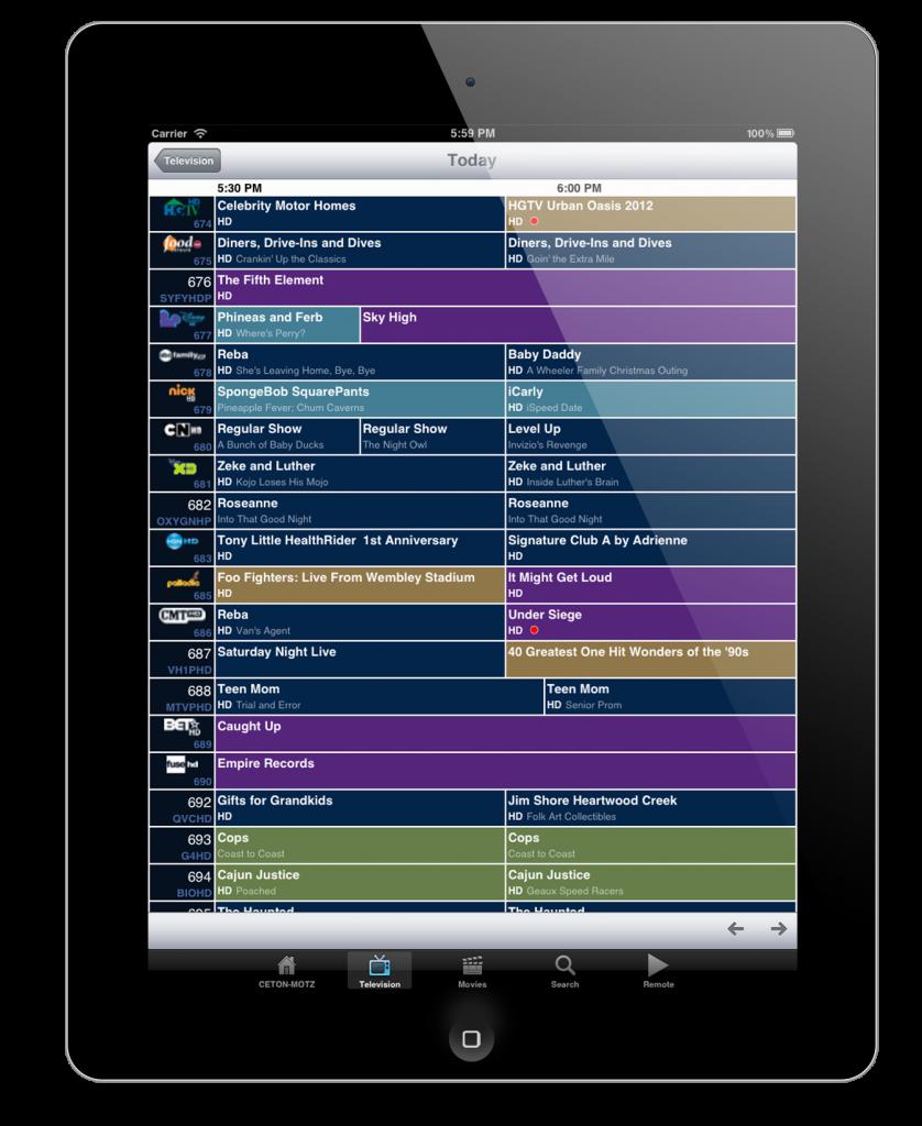 Ceton Companion - iOS(ipad) - Guide