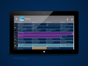 Windows 8 Television Guide